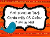 Multiplication Birdies Task Cards with QR Codes {2 digit by 1 digit}