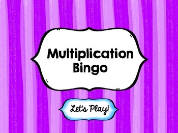 Multiplication Birdy Bingo!