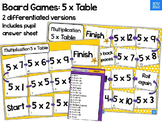 Multiplication Board Game 5 x table