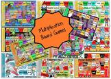 Multiplication Board Game BUNDLE - Set of 12 Board Games #