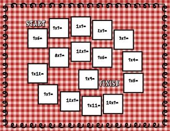 Multiplication Board Games
