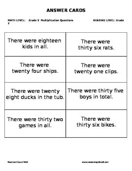 Multiplication Board Games  Grade 3