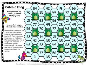 It is a picture of Witty Multiplication Facts Games Printable