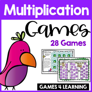 Printable Multiplication Games for Fact Fluency: Multiplication Facts Practice