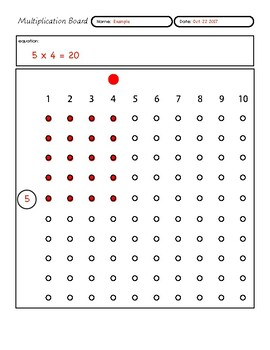 Multiplication Board Worksheet