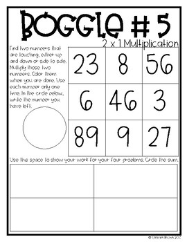 Multiplication Boggle