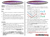 Multiplication Boggle - 3rd Grade Math Game [CCSS 3.OA.C.7]