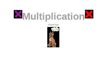 Modified Multiplication Book- Single Digit