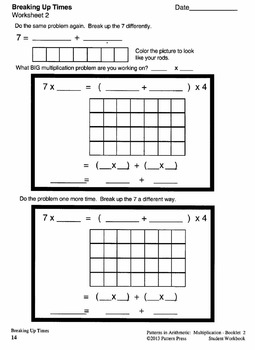 Multiplication: Booklet 2 - Beginning Long Multiplication - Student Workbook
