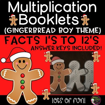 Multiplication Booklet- Gingerbread boy theme- 1's to 12's