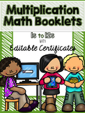Multiplication Booklets for 1s to 12s with Quizzes & EDITABLE Certificates