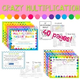 Multiplication - Booklets, passports and diplomas - Crazy