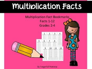 Multiplication Bookmark Flashcards