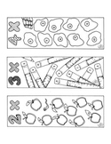 Multiplication Bookmarks Coloring Pages Two Through Ten Math PDF Printable