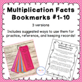 Multiplication Bookmarks and Practice Cards 1-10
