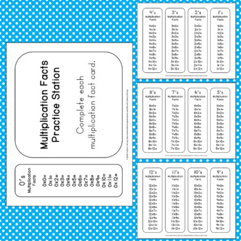 Multiplication Bookmarks and Practice Cards 1-12