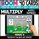 Multiplication Boom Cards Grade 4 | Distance Learning