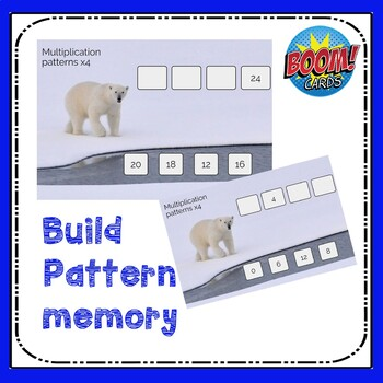 Multiplication Boom Cards Patterns multiplying by 4