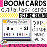 Multiplication Boom Cards (identify the missing factor)