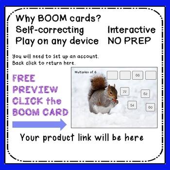 Multiplication Boom Cards times 6 #febsale