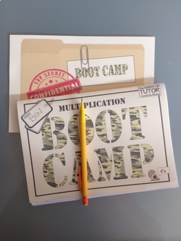 5 Times Table MULTIPLICATION DIVISION FACTS BOOT CAMP secure the facts!
