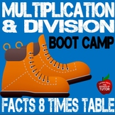 8 Times Table {multiplication Workbook} {division facts}