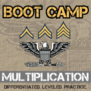 Multiplication Boot Camp -- Differentiated Multiplication Practice Assignments
