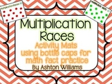 Multiplication Bottle Cap Racing Mats