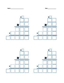 Multiplication Boxes with Regrouping 2x2