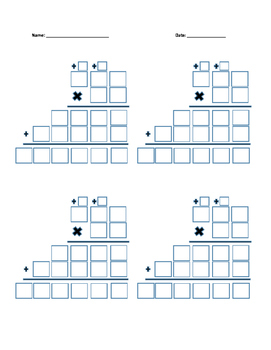 Multiplication Boxes with Regrouping 3x2