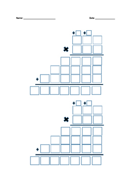 Multiplication Boxes with Regrouping 3x3