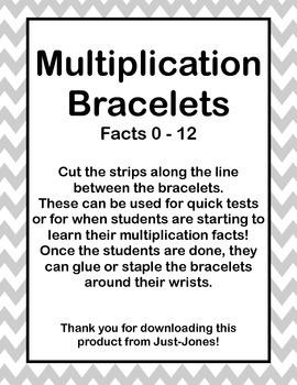 Multiplication Bracelets 0-12