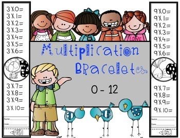 Multiplication Bracelets 0-12
