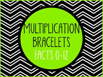 Multiplication Bracelets - Facts 0-12