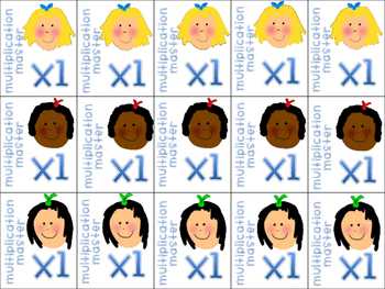 Multiplication Brag Tags