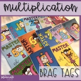 Multiplication Brag Tags 0-12
