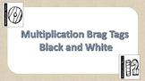 Multiplication Brag Tags No Color