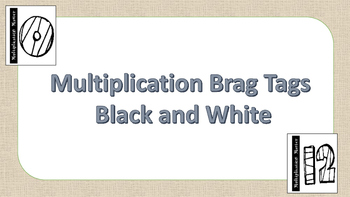 Multiplication Brag Tags No Color