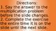 Multiplication Brain Break Facts 2-4