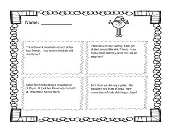 Multiplication Brain Break Task Cards and Review Worksheets