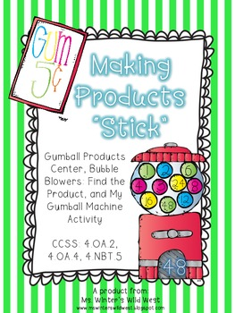 Multiplication: Bubble Gum Product Centers