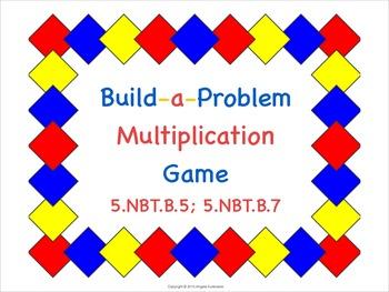 Multiplication Build-a-Problem Math Game