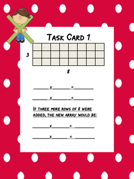 Multiplication: Building Arrays and Number Lines (Common Core and TEKS)