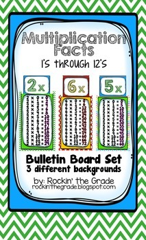 Multiplication Math Facts- 1's through 12's, 8 1/2 x 14 inches