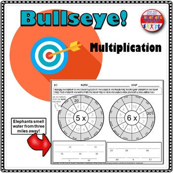 Multiplication Worksheets : Bullseye