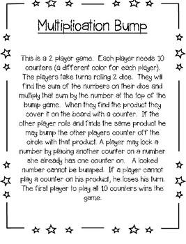 Multiplication Bump 1-12