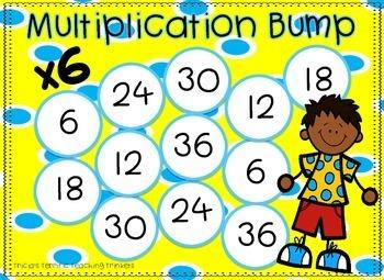 Multiplication Math Center Game