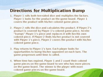 Free Multiplication Bump