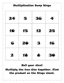 Multiplication Bump Bingo
