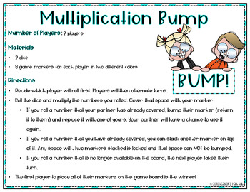 Multiplication Bump Freebie